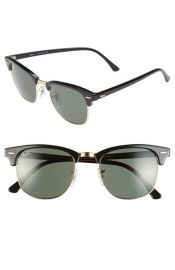 Ray-Ban Clubmaster 51mm Sunglasses in Black at Nordstrom