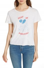 Re Done Keep on Marchin  x27  Tee   Nordstrom at Nordstrom