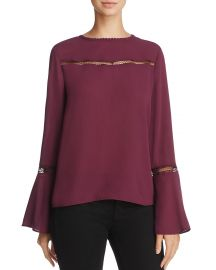 Rebecca Minkoff Chava Lace-Trimmed Top at Bloomingdales