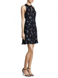 Rebecca Taylor - Natalie Silk A-Line Dress with Cutouts at Saks Fifth Avenue