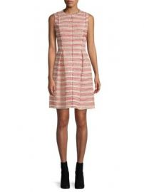 Rebecca Taylor Optic Striped Tweed Dress at Saks Off 5th