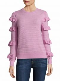 Rebecca Taylor Ruffle Wool Sweater at Saks Fifth Avenue