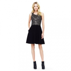 Rebecca Embellished Dress at Club Monaco