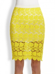 Rebecca Minkoff - Angelica Floral Lace Skirt at Saks Fifth Avenue