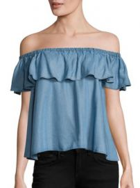 Rebecca Minkoff - Chambray Dev Off-the-Shoulder Top at Saks Fifth Avenue