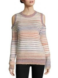 Rebecca Minkoff - Page Cold Shoulder Space Dye Sweater at Saks Fifth Avenue