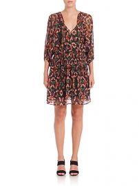 Rebecca Minkoff - Shadow Printed Silk Dress at Saks Fifth Avenue