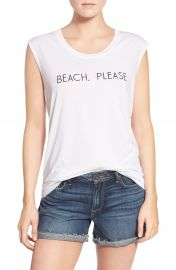 Rebecca Minkoff  Beach  Please  Jersey Muscle Tee at Nordstrom