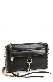 Rebecca Minkoff Mini MAC Convertible Crossbody Bag in Black at Nordstrom