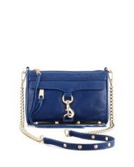 Rebecca Minkoff Mini MAC Core Crossbody Bag Navy at Neiman Marcus