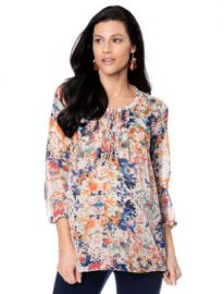Rebecca Minkoff Pleated Maternity Blouse at A Pea in the Pod