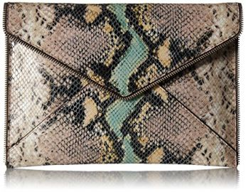Rebecca Minkoff Snake Leo Clutch x at Amazon
