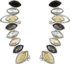Rebecca Minkoff Womens Stacked Sparkler Ear Climber Earrings at Amazon