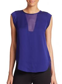 Rebecca Taylor - Charlie Silk Top at Saks Fifth Avenue