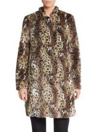 Rebecca Taylor - Cheetah Patterned Faux Fur Coat at Saks Off 5th