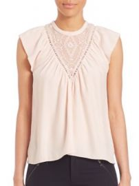 Rebecca Taylor - Embroidered Silk Top at Saks Off 5th
