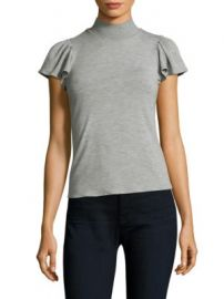 Rebecca Taylor - Mockneck Jersey Top at Saks Fifth Avenue