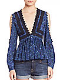 Rebecca Taylor - Printed Lace Top at Saks Off 5th