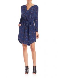 Rebecca Taylor - Printed Self-Tie Shirtdress at Saks Fifth Avenue