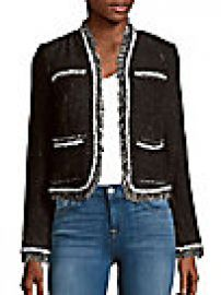 Rebecca Taylor - Rio Tweed Long Sleeve Jacket at Saks Off 5th