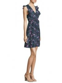 Rebecca Taylor - Ruby Floral Print Silk A-Line Dress at Saks Fifth Avenue