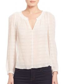 Rebecca Taylor - Silk Bar Clip Blouse at Saks Off 5th