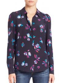 Rebecca Taylor - Silk Bellflower Button-Front Blouse at Saks Off 5th