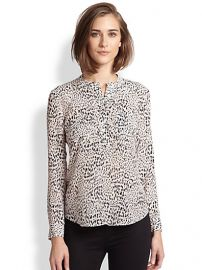 Rebecca Taylor - Silk Leopard-Print Blouse at Saks Fifth Avenue