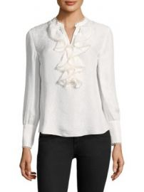 Rebecca Taylor - Silk Ruffle Blouse at Saks Fifth Avenue