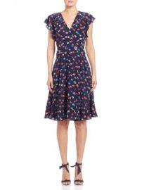 Rebecca Taylor - Silk Sakura A-Line Dress at Saks Off 5th