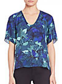Rebecca Taylor - Tahitian Silk Floral-Print Top at Saks Off 5th