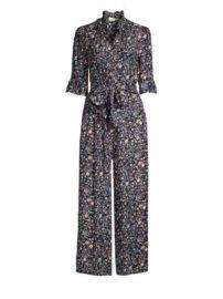 Rebecca Taylor - Vivanna Floral Tie-Waist Ruffled Silk Jumpsuit at Saks Fifth Avenue