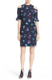 Rebecca Taylor  Bellflower  Print Cold Shoulder Dress at Nordstrom