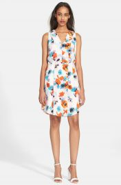 Rebecca Taylor  Flower Press  Silk Dress at Nordstrom