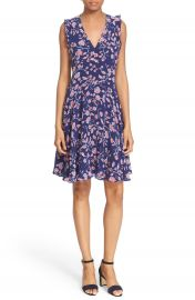 Rebecca Taylor  Kyoto  Floral Print Silk A-Line Dress at Nordstrom