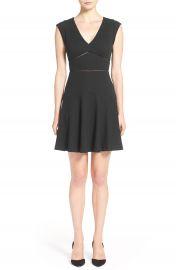 Rebecca Taylor  Taylor  V-Neck Fit   Flare  Dress at Nordstrom
