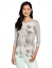 Rebecca Taylor Animal Print Tee at Amazon