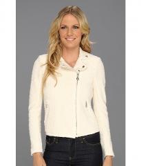 Rebecca Taylor Boucle Moto Jacket Cream at 6pm