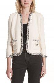 Rebecca Taylor Braided Trim Tweed Jacket at Nordstrom