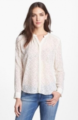 Rebecca Taylor Clip Dot Blouse at Nordstrom