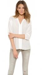 Rebecca Taylor Clip Dot Blouse at Shopbop