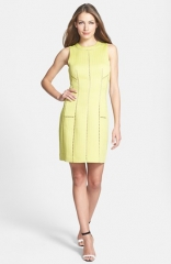 Rebecca Taylor Cutout Detail Textured Sheath Dress at Nordstrom