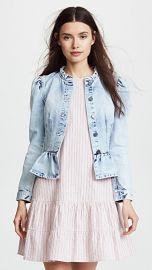 Rebecca Taylor Denim Peplum Jacket at Shopbop