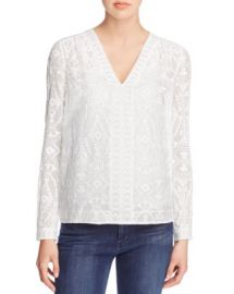Rebecca Taylor Embellished Top at Bloomingdales