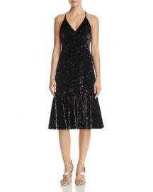 Rebecca Taylor Floral Velvet Slip Dress - 100  Exclusive at Bloomingdales
