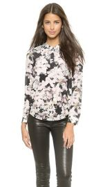 Rebecca Taylor Front Placket Top at Shopbop