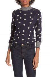 Rebecca Taylor Heart Jacquard Sweater at Nordstrom