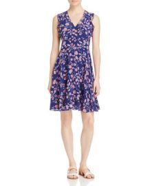 Rebecca Taylor Kyoto Ruffled Trim Floral Print Silk Dress at Bloomingdales