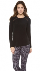 Rebecca Taylor Lace Combo Blouse at Shopbop