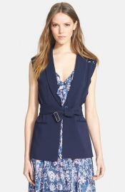 Rebecca Taylor Lace Detail Suiting Vest at Nordstrom